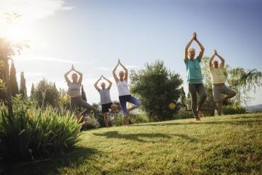 Senior Yoga Class Outdoors